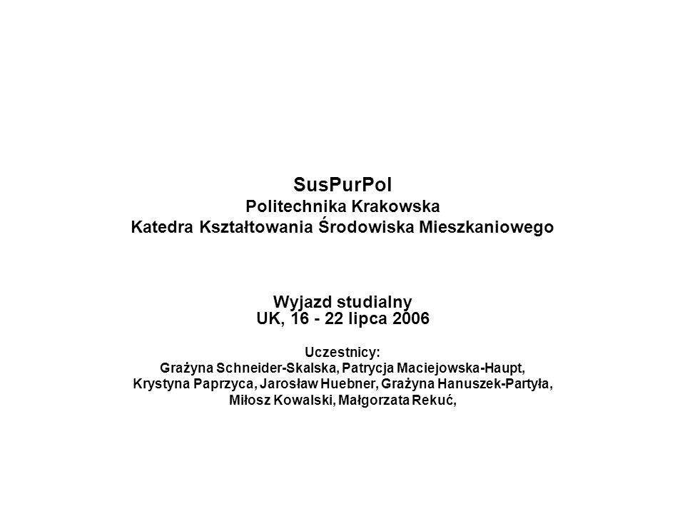 SusPurPol Politechnika Krakowska Katedra Kształtowania Środowiska Mieszkaniowego
