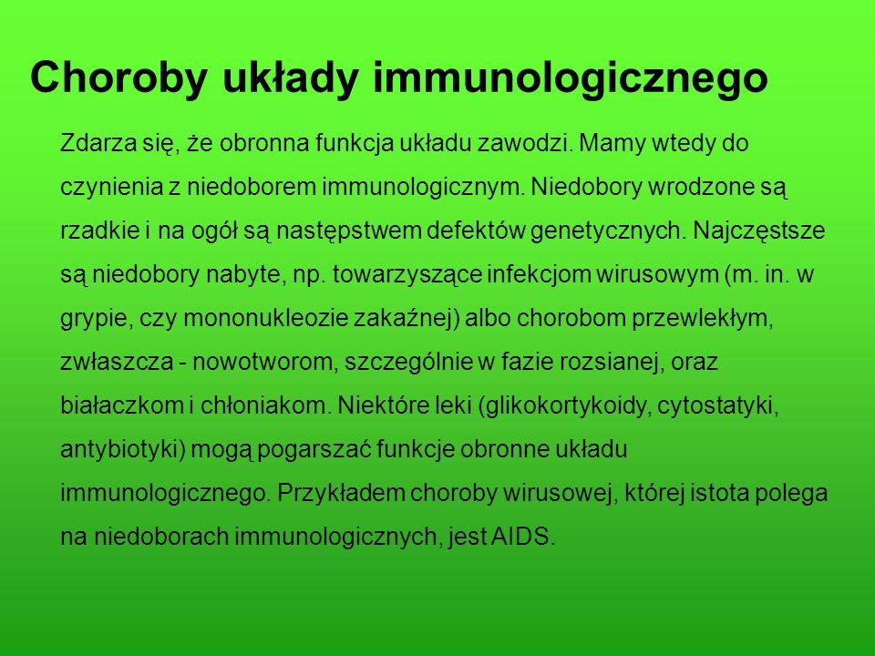 Choroby układy immunologicznego