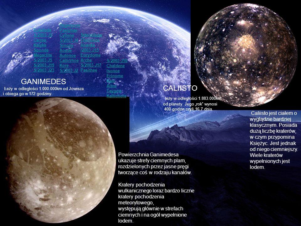 GANIMEDES CALIISTO leży w odległości 1.883.000km