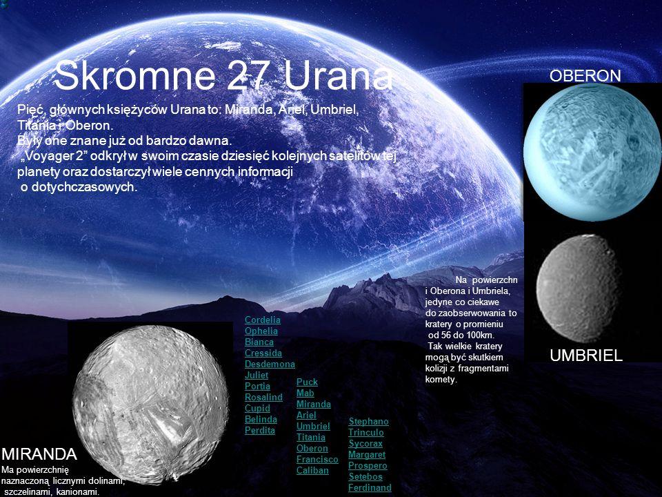Skromne 27 Urana OBERON UMBRIEL MIRANDA