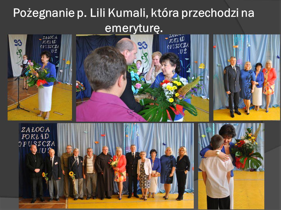 Pożegnanie p. Lili Kumali, która przechodzi na emeryturę.