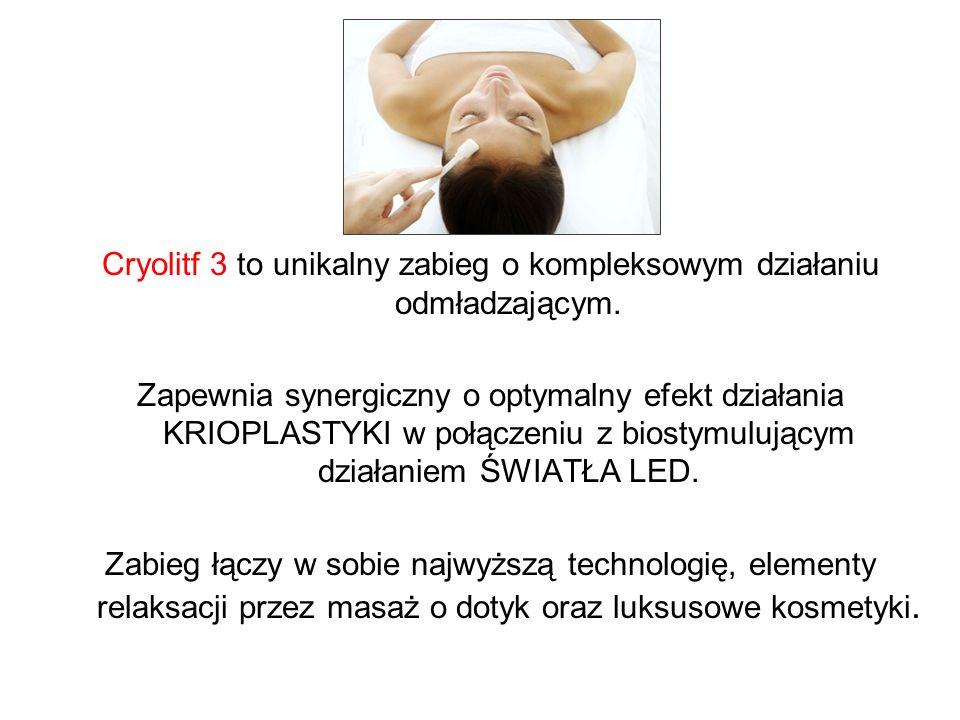 Cryolitf 3 to unikalny zabieg o kompleksowym działaniu odmładzającym.