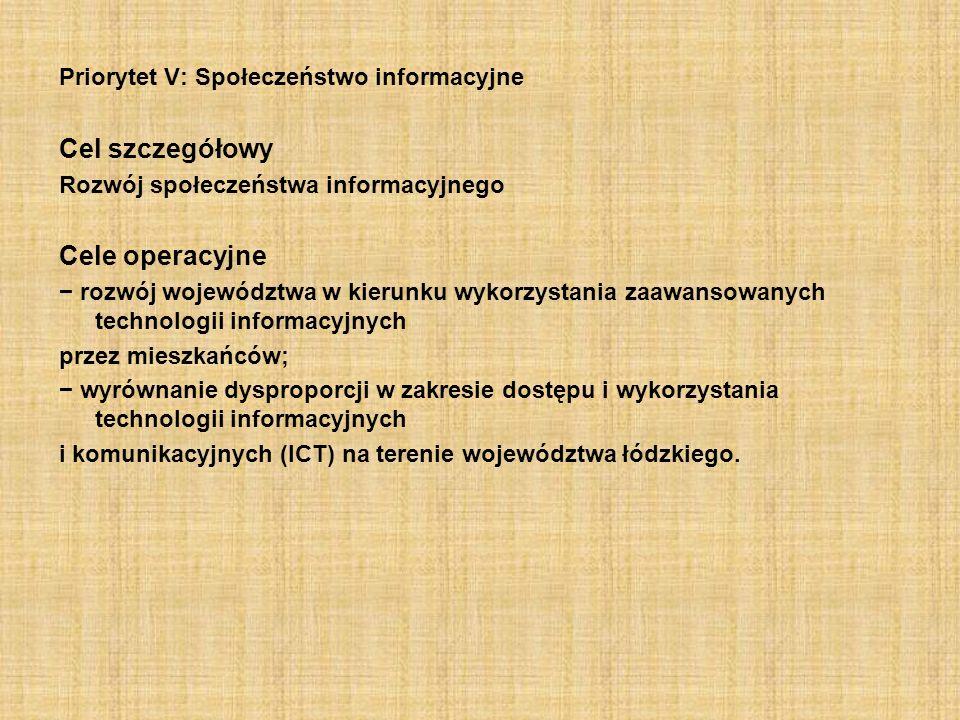 Cel szczegółowy Cele operacyjne