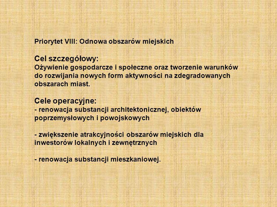 Cel szczegółowy: Cele operacyjne: