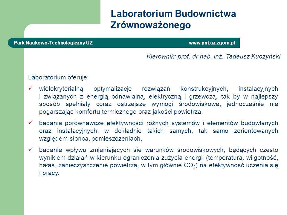 Laboratorium Budownictwa Zrównoważonego