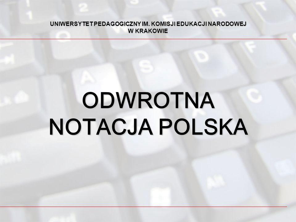ODWROTNA NOTACJA POLSKA