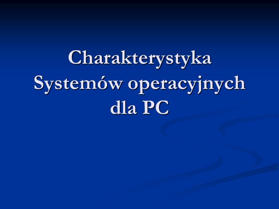 Charakterystyka Systemów operacyjnych dla PC