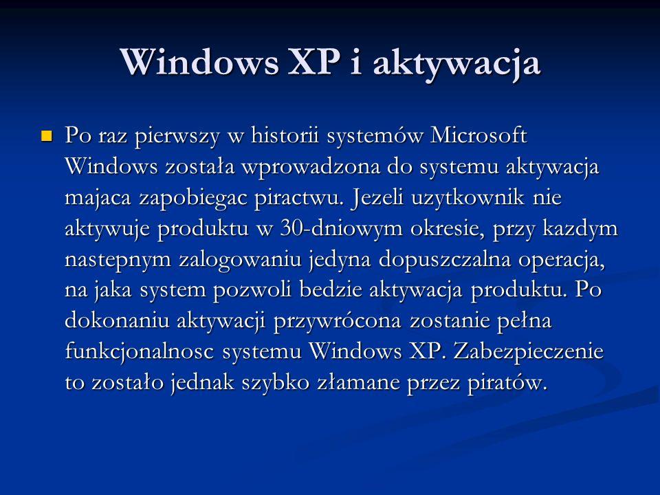 Windows XP i aktywacja
