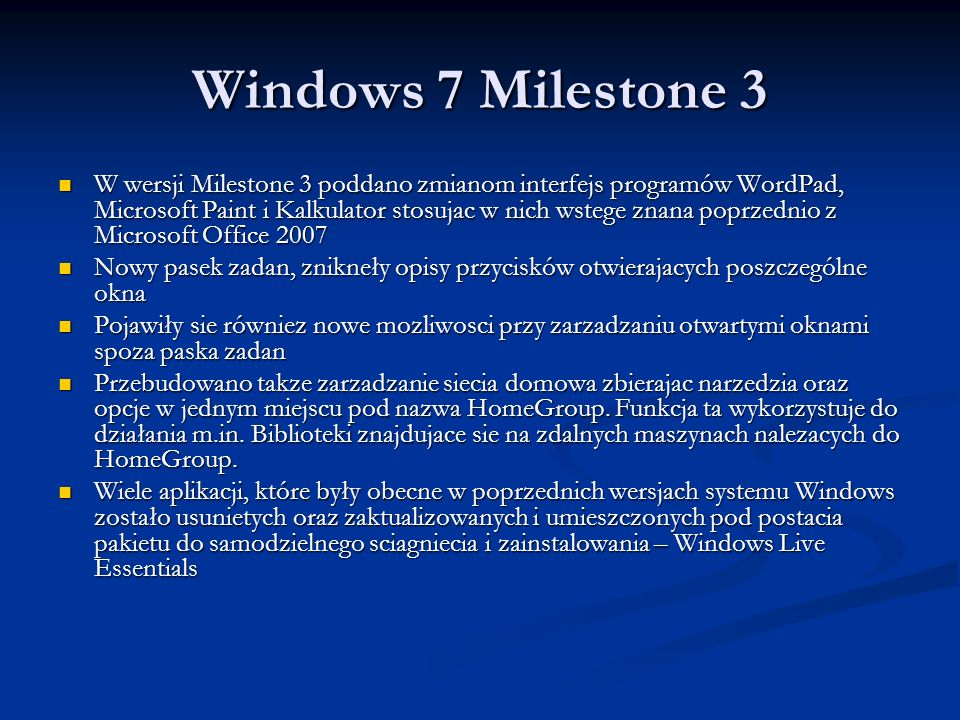 Windows 7 Milestone 3