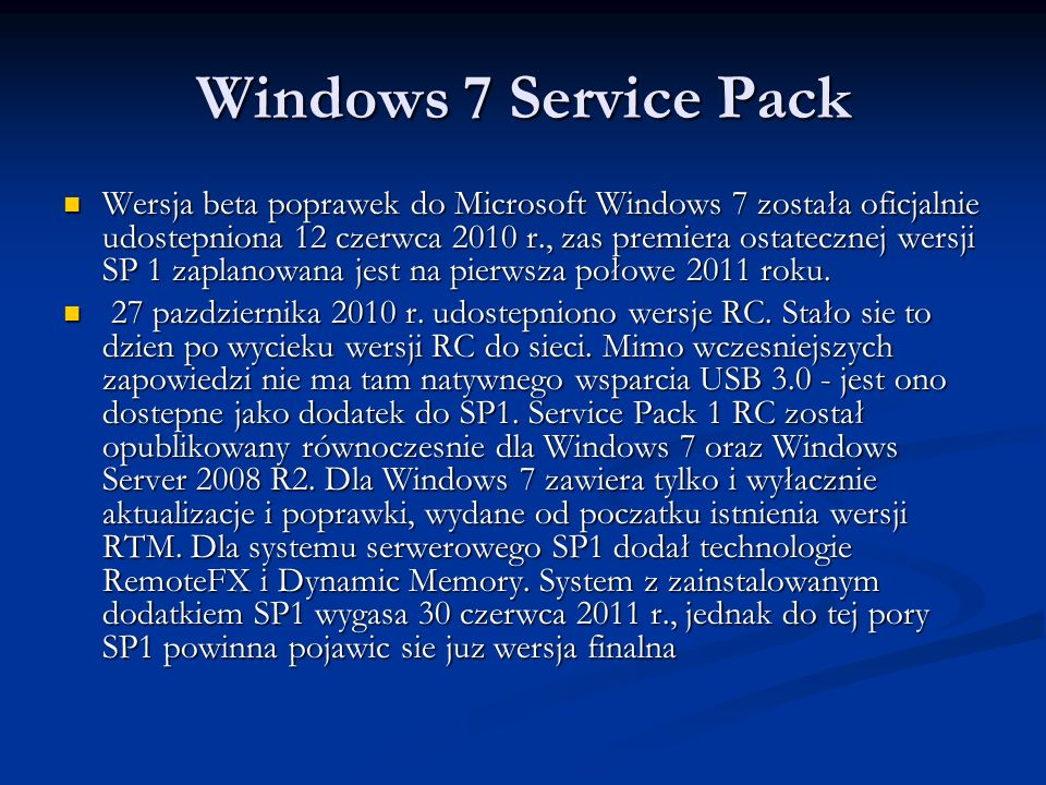 Windows 7 Service Pack