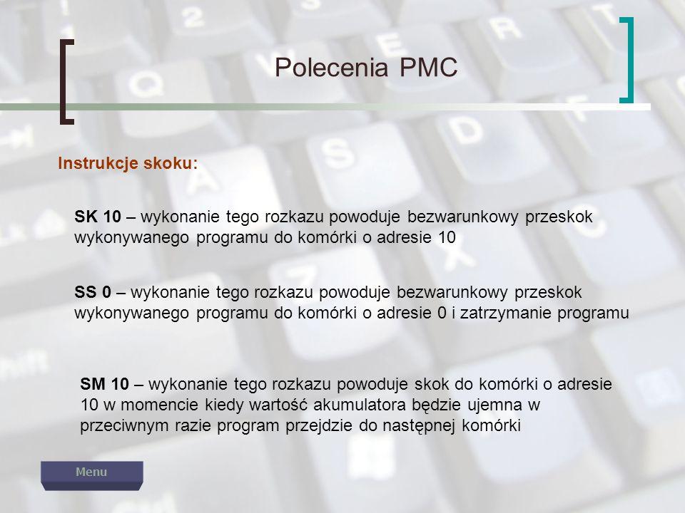 Polecenia PMC Instrukcje skoku: