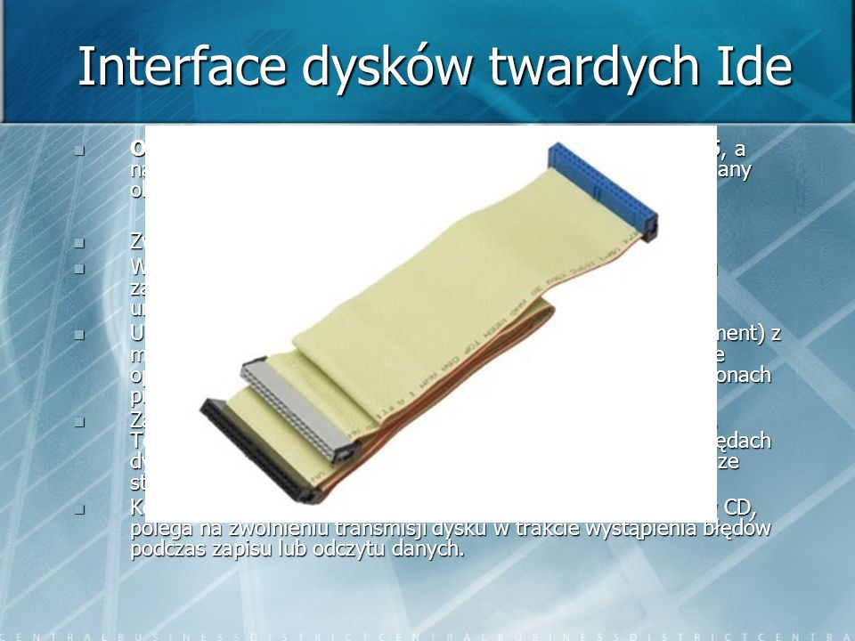 Interface dysków twardych Ide