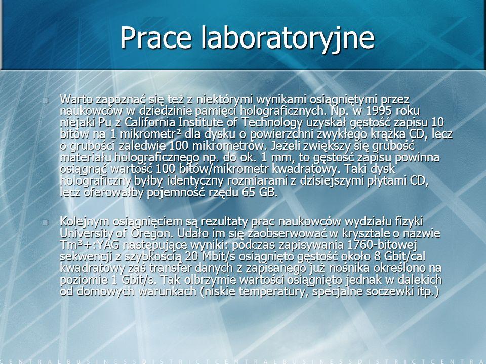Prace laboratoryjne