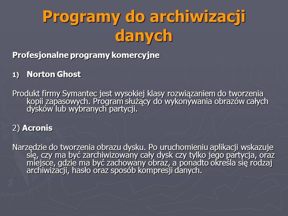 Programy do archiwizacji danych