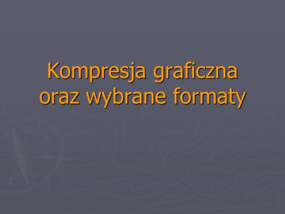 Kompresja graficzna oraz wybrane formaty