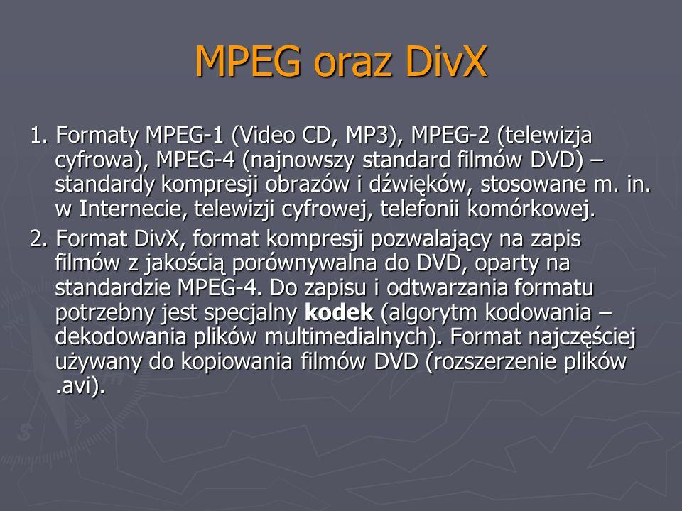 MPEG oraz DivX