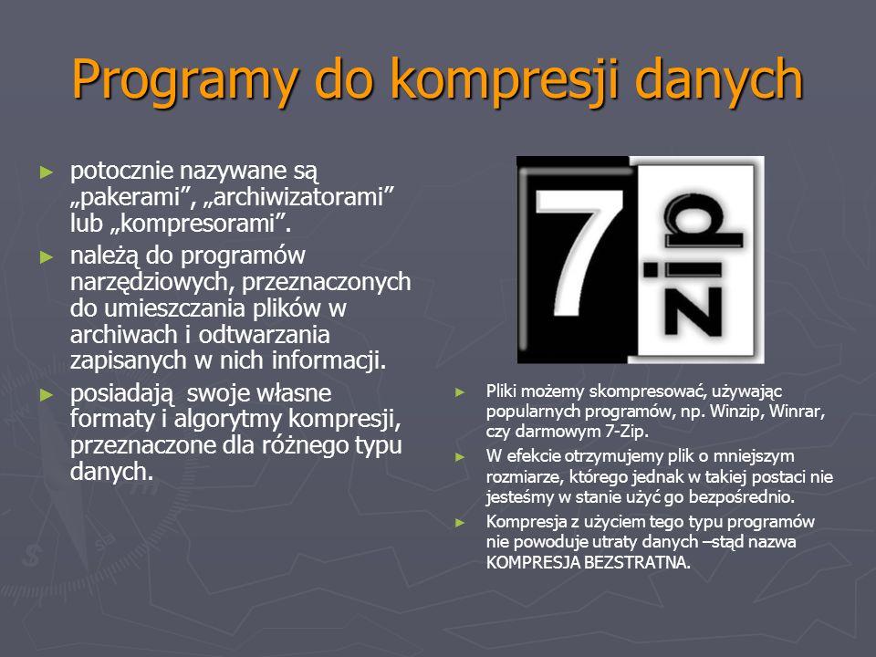 Programy do kompresji danych