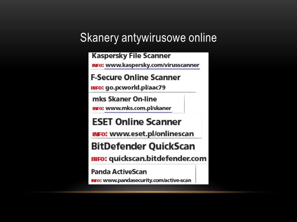 Skanery antywirusowe online