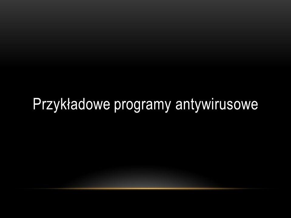 Przykładowe programy antywirusowe