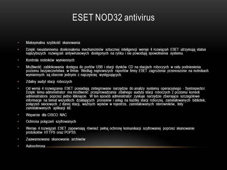 ESET NOD32 antivirus Maksymalna szybkość skanowania
