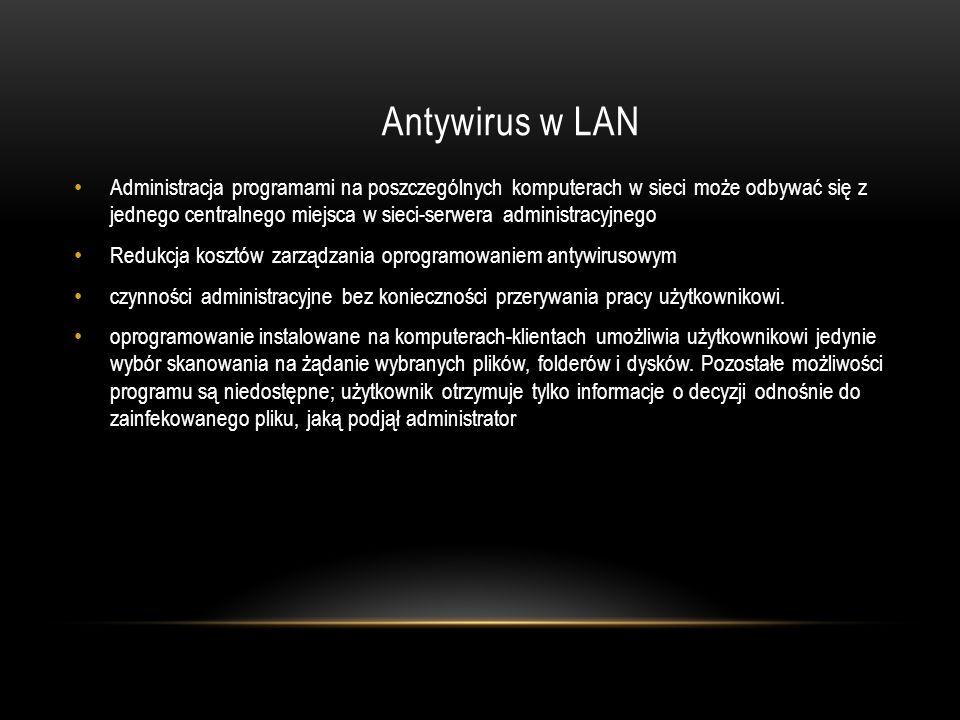 Antywirus w LAN