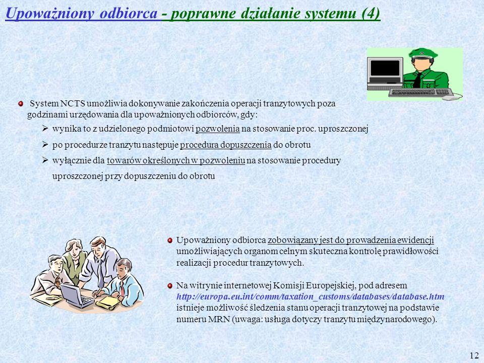 Upoważniony odbiorca - poprawne działanie systemu (4)