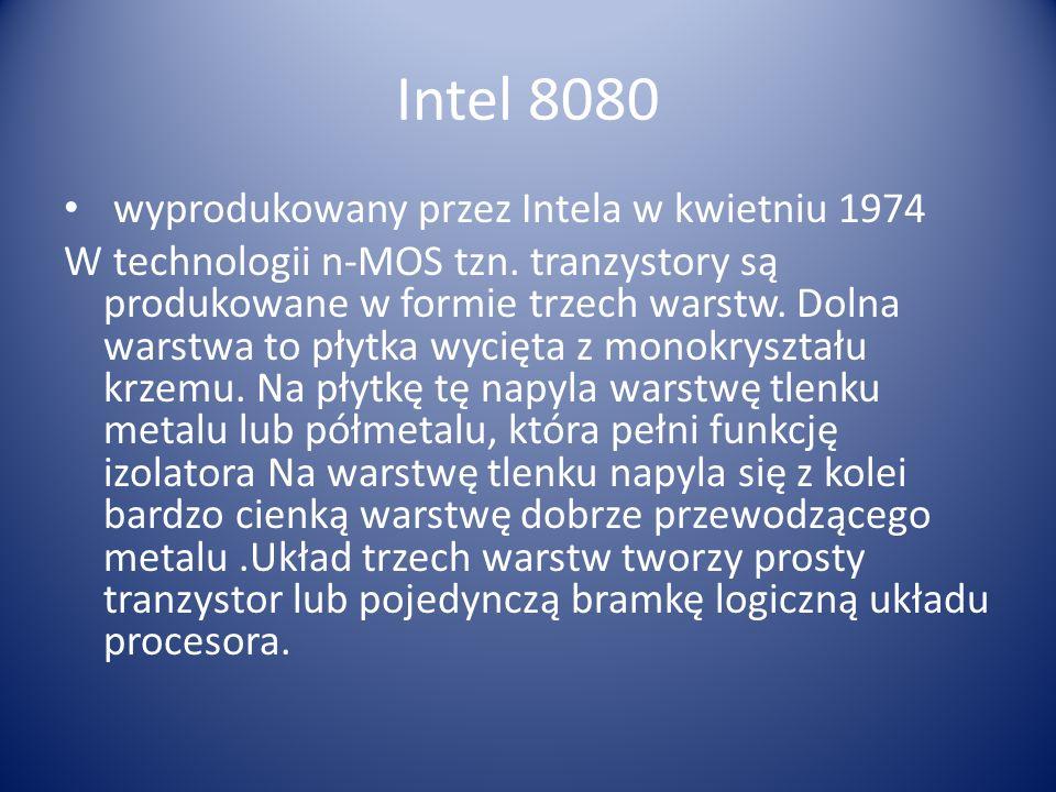 Intel 8080 wyprodukowany przez Intela w kwietniu 1974