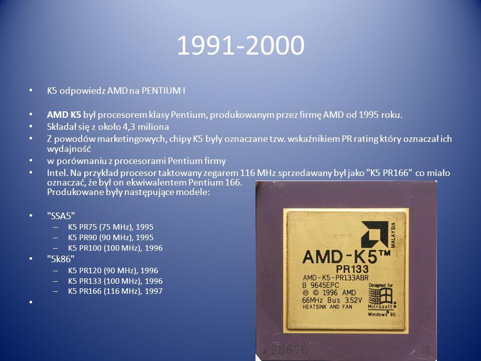 1991-2000 K5 odpowiedz AMD na PENTIUM I