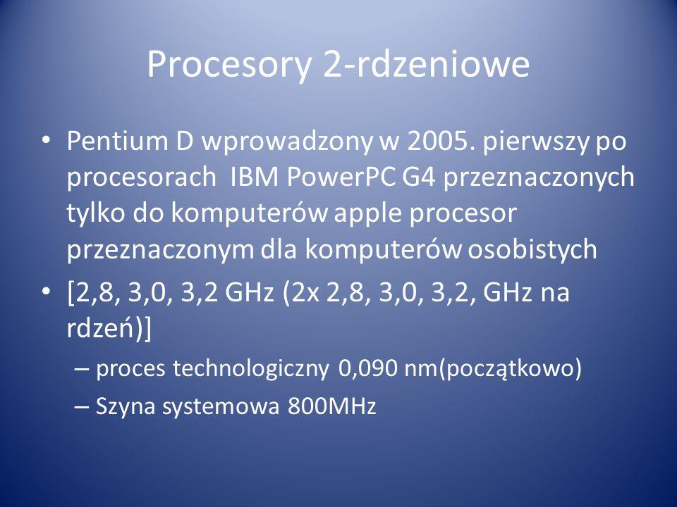 Procesory 2-rdzeniowe