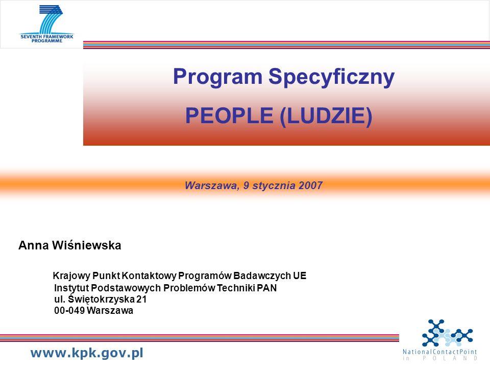Program Specyficzny PEOPLE (LUDZIE)