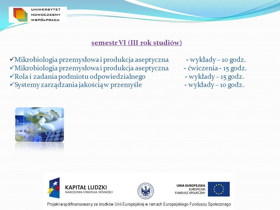 semestr VI (III rok studiów)