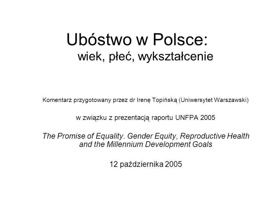 Ubóstwo w Polsce: wiek, płeć, wykształcenie