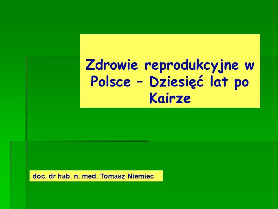 Zdrowie reprodukcyjne w Polsce – Dziesięć lat po Kairze