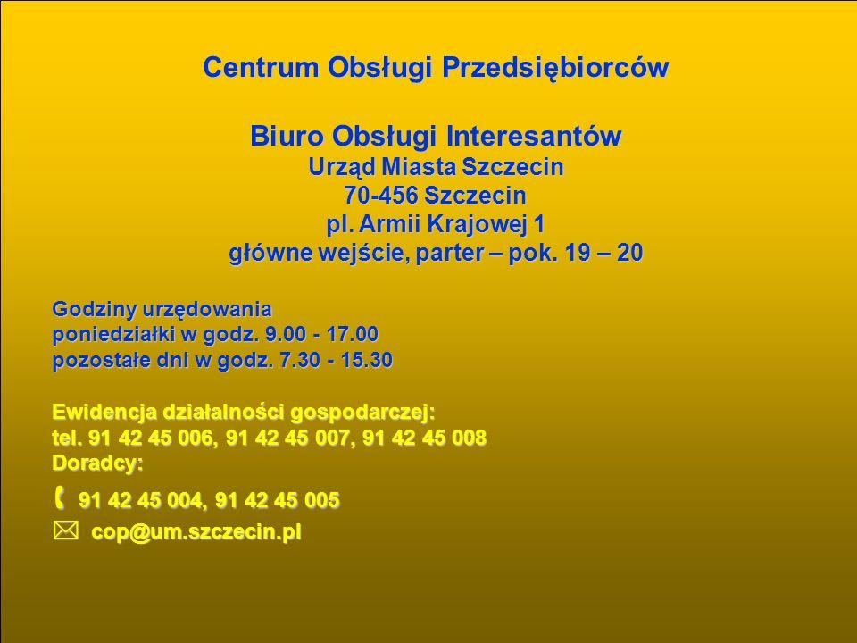 91 42 45 004, 91 42 45 005 Centrum Obsługi Przedsiębiorców