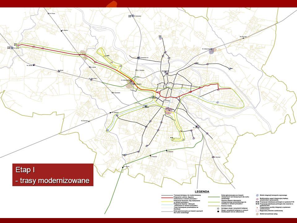 Etap I - trasy modernizowane