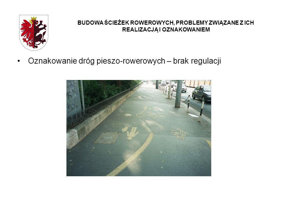 Oznakowanie dróg pieszo-rowerowych – brak regulacji