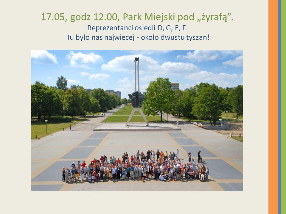 """17. 05, godz 12. 00, Park Miejski pod """"żyrafą"""