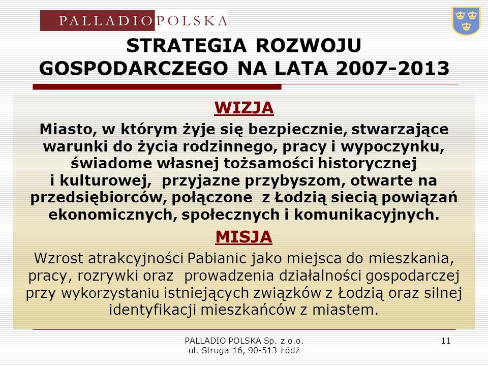 STRATEGIA ROZWOJU GOSPODARCZEGO NA LATA 2007-2013