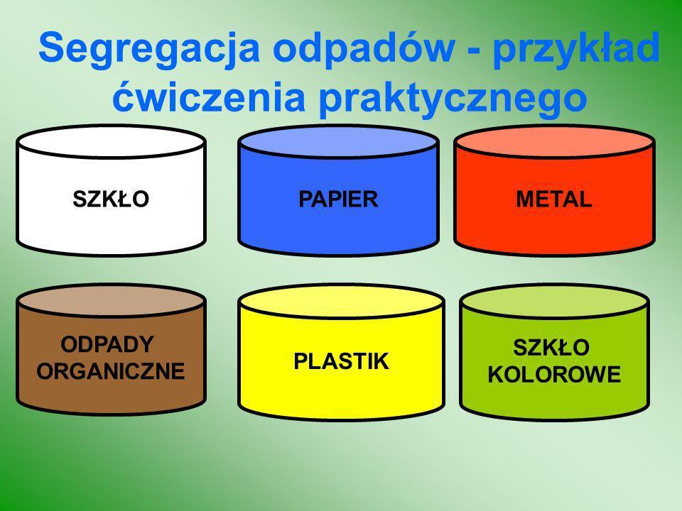Segregacja odpadów - przykład ćwiczenia praktycznego