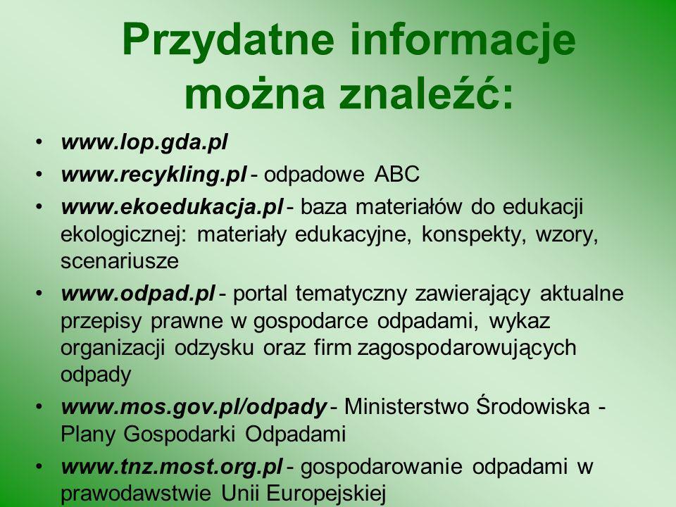Przydatne informacje można znaleźć: