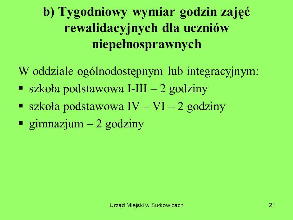 Urząd Miejski w Sułkowicach