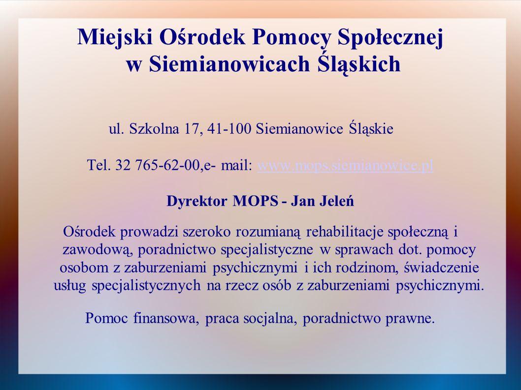 Miejski Ośrodek Pomocy Społecznej w Siemianowicach Śląskich