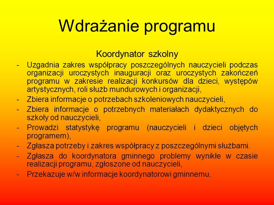 Wdrażanie programu Koordynator szkolny