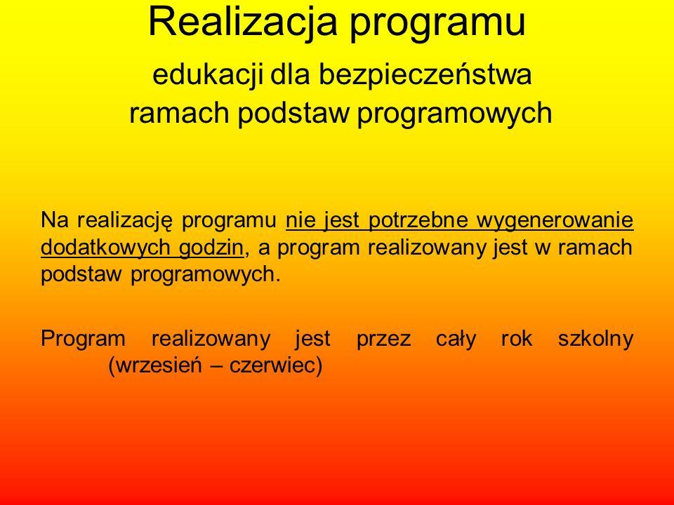 Realizacja programu edukacji dla bezpieczeństwa ramach podstaw programowych