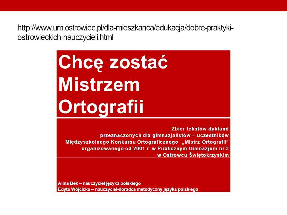 Chcę zostać Mistrzem Ortografii