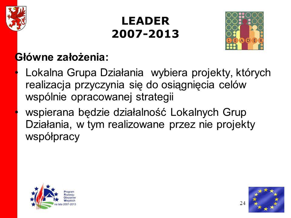 LEADER 2007-2013 Główne założenia:
