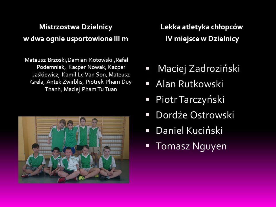 Maciej Zadroziński Alan Rutkowski Piotr Tarczyński Dordże Ostrowski
