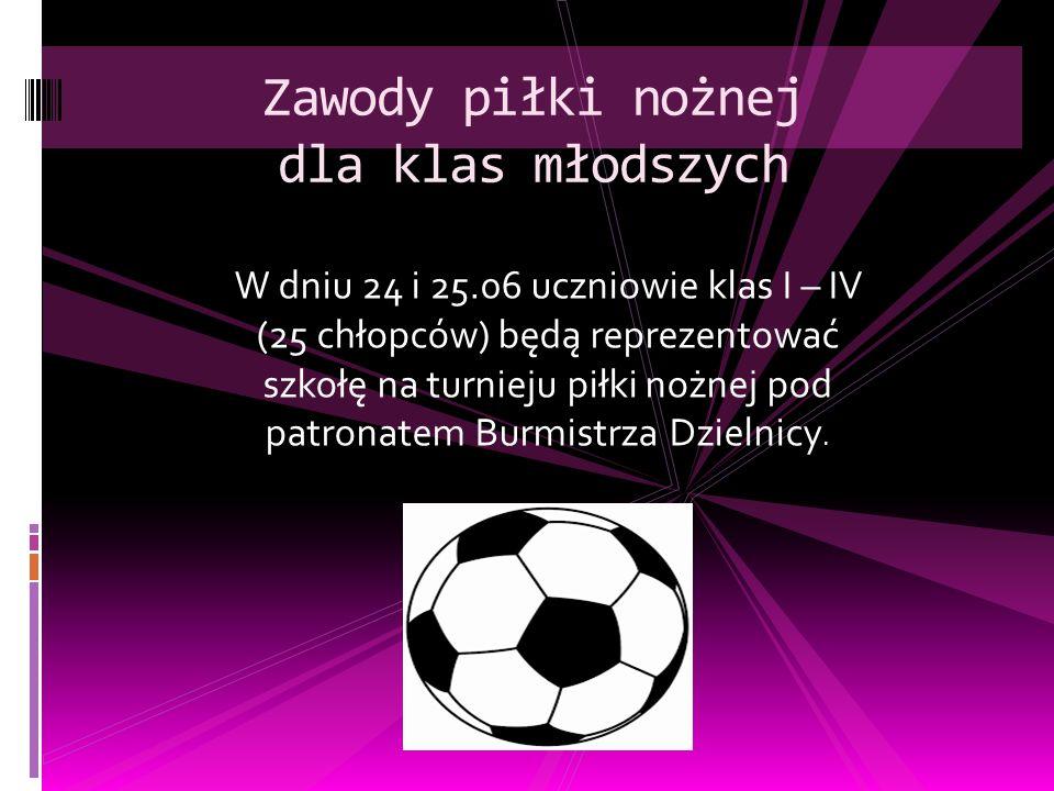 Zawody piłki nożnej dla klas młodszych