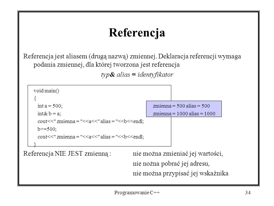 typ& alias = identyfikator