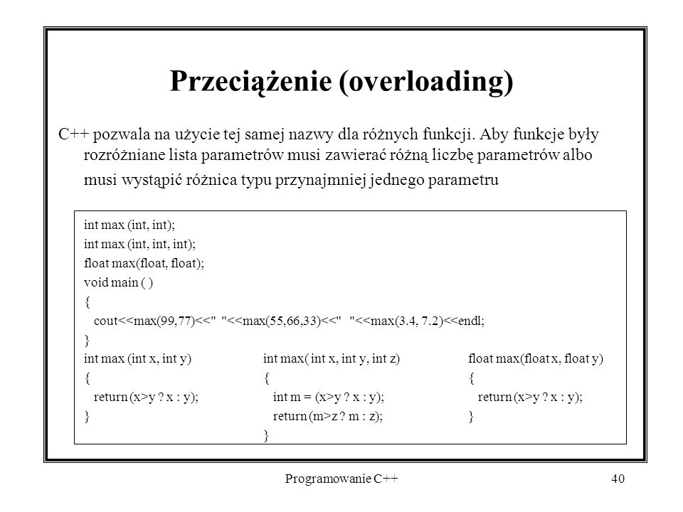 Przeciążenie (overloading)